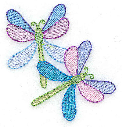 Embroidery Design: Dragonfly pair 2.33w X 2.46h
