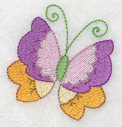 Embroidery Design: Butterfly 2.21w X 2.41h