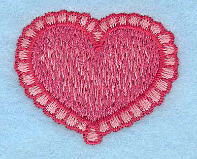 "Embroidery Design: Heart with scalloped border  1.25""h x 1.51""w"