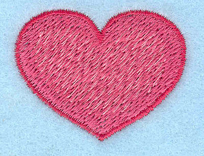 "Embroidery Design: Heart  1.32""h x 1.70""w"