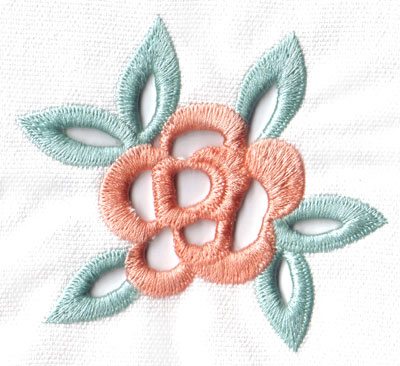 Embroidery Design: Cutwork single flower small3.77w X 3.34h