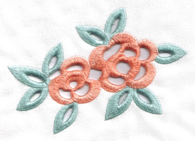 Embroidery Design: Cutwork double flowers large6.65w X 4.51h