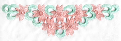 Embroidery Design: Cutwork seven flower design large11.49w X 3.43h