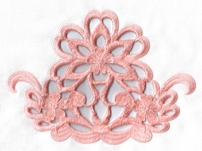 Embroidery Design: Cutwork three flower design large8.43w X 6.30h