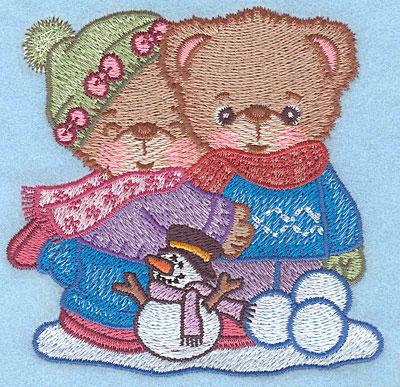 "Embroidery Design: Boy and Girl teddy small3.81""Hx3.90""W"
