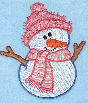 "Embroidery Design: Snowman A large4.15""Hx3.73""W"