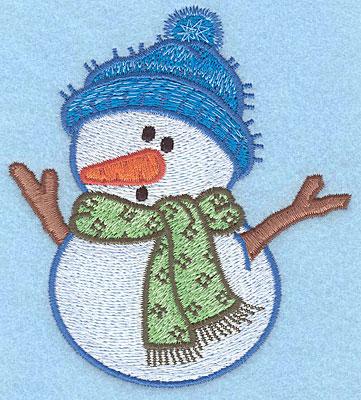 "Embroidery Design: Snowman B large4.151""Hx3.73""W"