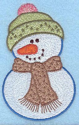 "Embroidery Design: Snowman C large4.14""Hx2.61""W"