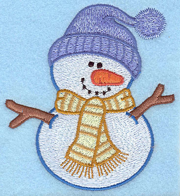 "Embroidery Design: Snowman D large4.14""Hx3.77""W"