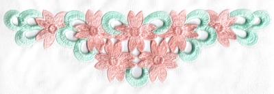 Embroidery Design: Cutwork seven flower design small8.28w X 2.47h