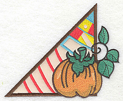 Embroidery Design: Corner pumpkin large 1 applique 4.95w X 4.08h