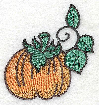 Embroidery Design: Pumpkin 2.89w X 3.11h