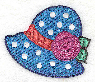 Embroidery Design: Ladies hat 1 applique 2.75w X 2.33h