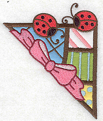 Embroidery Design: Corner ladybugs small 4 appliques 3.17w X 3.86h