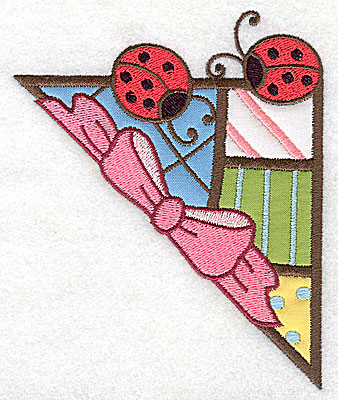 Embroidery Design: Corner ladybugs large 4 appliques 4.07w X 4.97h