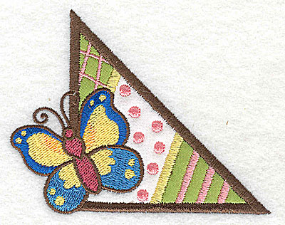 Embroidery Design: Corner butterfly small 2 appliques 3.86w X 3.04h