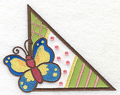 Embroidery Design: Corner butterfly large 2 appliques 4.97w X 3.93h