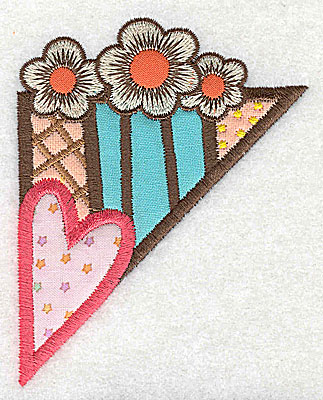 Embroidery Design: Corner heart and flowers small 4 appliques 3.06w X 3.84h