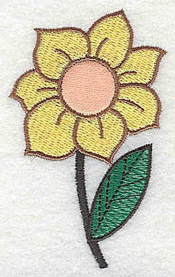 Embroidery Design: Sunflower Applique 2.04w X 3.31h