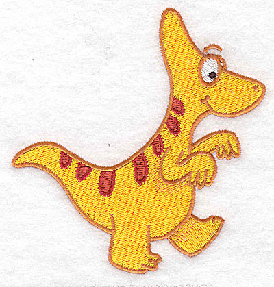 Embroidery Design: Dinosaur C large 4.39w X 4.59h