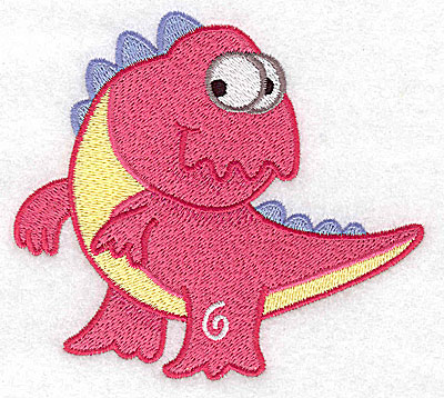 Embroidery Design: Dinosaur F large 4.63wX 4.15h
