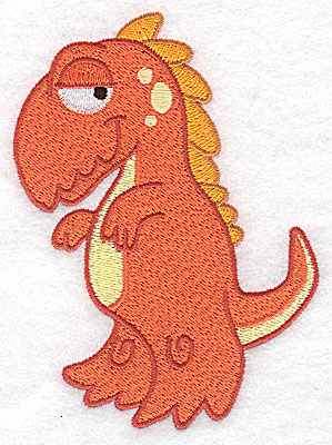 Embroidery Design: Dinosaur G large 3.72w X 4.92h