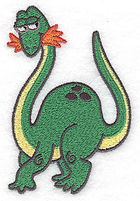Embroidery Design: Dinosaur H small 2.59w X 3.88h