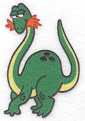 Embroidery Design: Dinosaur H large 3.32w X 4.96h
