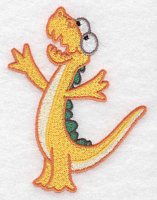 Embroidery Design: Dinosaur I small 2.97w X 3.89h