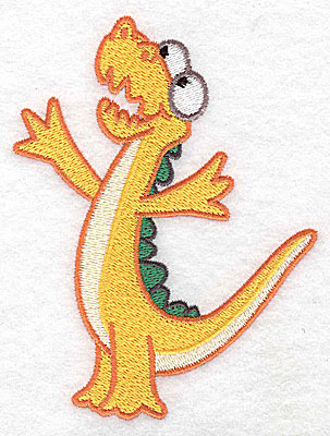 Embroidery Design: Dinosaur I large 3.80w X 4.98h