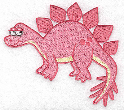 Embroidery Design: Dinosaur J large 4.95w X 4.57h
