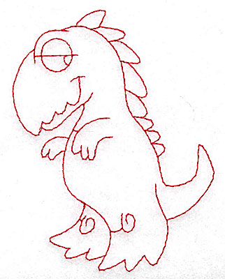 Embroidery Design: Dinosaur G redwork small 2.98w X 3.87h