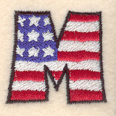 "Embroidery Design: M small  1.39""h x 1.50""w"