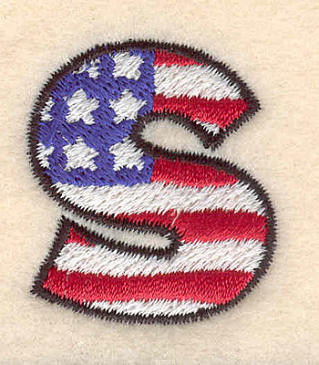 "Embroidery Design: S small  1.40""h x 1.22""w"