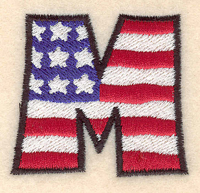 """Embroidery Design: M large  2.01""""h x 2.17""""w"""