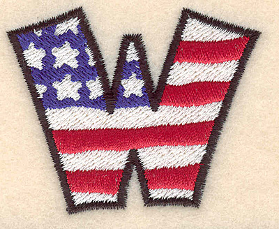 """Embroidery Design: W large  2.04""""h x 2.49""""w"""