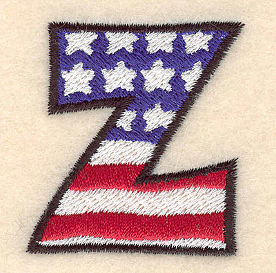 """Embroidery Design: Z large  2.01""""h x 1.84""""w"""