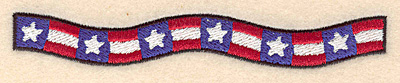 "Embroidery Design: American banner small  0.73""h x 5.00""w"