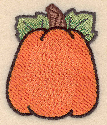 "Embroidery Design: Pumpkin large 2.26""w X 2.79""h"