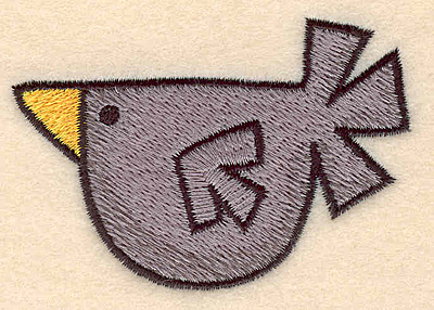 """Embroidery Design: Crow large 3.20""""w X 2.23""""h"""