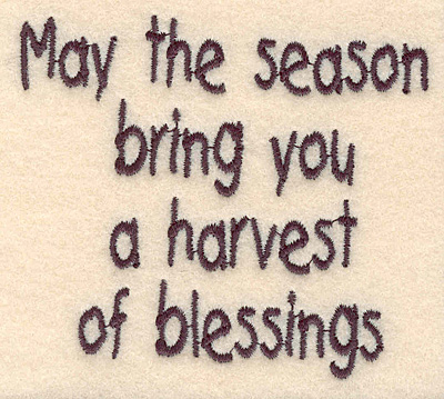 """Embroidery Design: Seasons Blessings small 3.34""""w X 2.92""""h"""