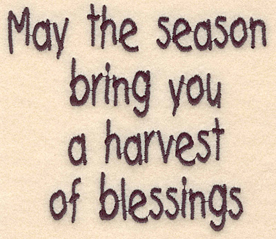 "Embroidery Design: Seasons Blessings large 4.48""w X 3.92""h"