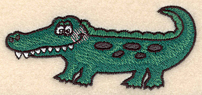 Embroidery Design: Alligator small3.90w X 1.75h
