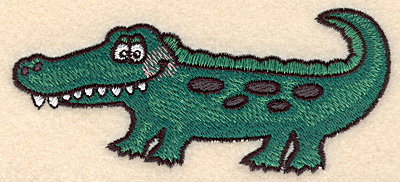 Embroidery Design: Alligator large 5.00w X 2.25h