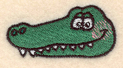 Embroidery Design: Alligator head small 2.11w X 1.12h
