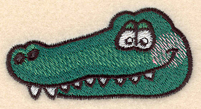 Embroidery Design: Alligator head large 3.16w X 1.66h