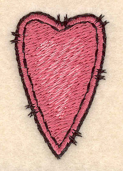 Embroidery Design: Heart 1.09w X 1.62h