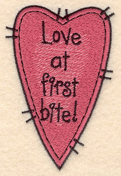 Embroidery Design: Heart with text large 2.34w X 3.56h