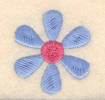 Embroidery Design: Flower large 1.33w X 1.45h