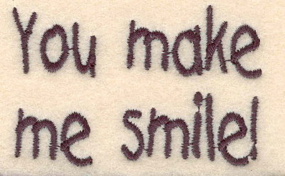 Embroidery Design: Smile large 2.67w X 1.73h